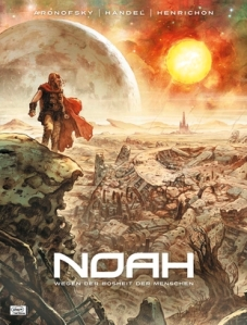 Image from the graphic novel, Noah, by Darren Aronofsky, soon to hit theaters. http://bloody-disgusting.com /news/3241090/darren-aronofsky-brings-noah-to-image-comics/