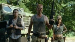 Newcomers Dr. Eugen Porter, Sergeant Abraham, and Rosita are on a mission--but can we trust them after they forcibly try to draft Glenn and Tara?  And is Dr. Porter REALLY who he says he is...SPOILER... that he knows what caused the outbreak???  At least he has a mullet.
