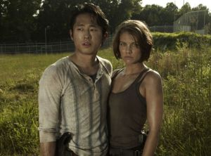 Glenn and Maggie's budding romance is one of the more happy, joyful occasions of The Walking Dead