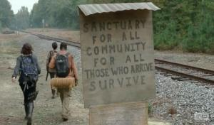 "Almost all of the groups who survived the battle at the prison have found these signs and maps pointing to a potential sanctuary called ""Terminus"".  Is it truly a sanctuary?"