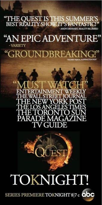 (Credit: Producer Rob Eric) Watch ABC's The Quest two hour season finale tonight, 8/7c!