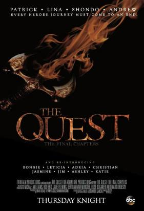 ABC's The Quest finale poster, designed by Producer Rob Eric.